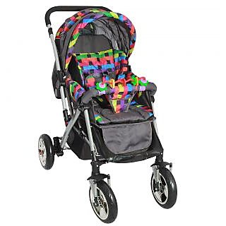 dealBindaas Pram Play Stroller Multicolor
