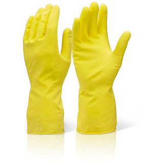 2 Pair Household Washing Cleaning Kitchen Hand Rubber Gloves for All Cleaning