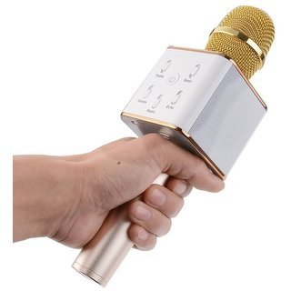 Shivrun Karaoke Wireless Microphone Portable Handheld Singing Machine Condenser Mic with Bluetooth Speaker