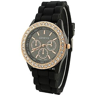 Geneva Analog Black Dial Womens Watch