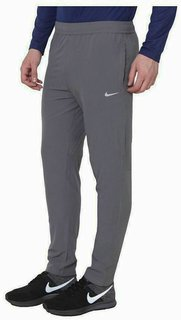 Nike Grey Polyester Lycra Trackpants Men