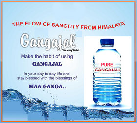 Holy Gangajal 980ml For Any Puja Direct From Ganga With Best Quality Bottle