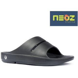 e71be94cbc5 Buy Neoz Men s Black Flip Flops Online - Get 4% Off