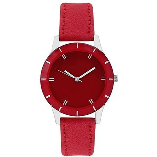 HRV Colors Red Dial Analog Wrist Watch - For Women