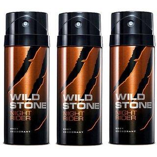 Wild Stone Night Rider Deodorant Spray  Pack of 3 Combo 150ML each 450ML