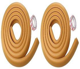 Kuhu Creations Premium Kid's Safety Furniture Edge Cushion Protector 2 meter Corner Bar Strips (2 Pcs, Wooden).