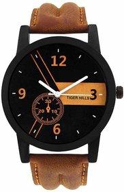TIGERHILLS  Quartz Analog Black Round Dial Men's Watch Model No-T303181 6 month warranty