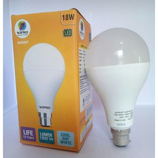 Pack of two wipro led bulb 18W with free shipping