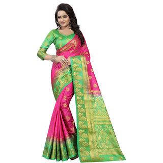 Saarah Pink Kanchipuram Silk Saree
