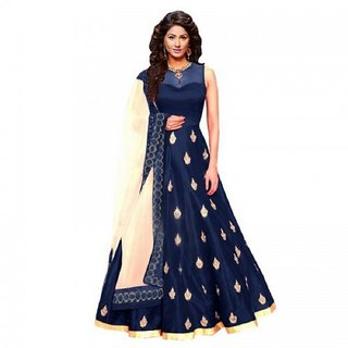 Active Womens Remp Blue Bangalory Anarkali Semi Stitched Gown