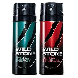 Wild Stone Hydra Energy And Ultra Sensual- Combo of 2- 150ml Each