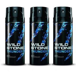 Wild Stone Thunder Deodorant Spray  Pack of 3 Combo 150ML each 450ML