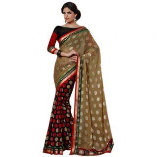 Triveni Black Bhagalpuri Silk Plain Saree With Blouse