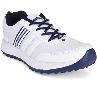 Action Men's White,Navy Sports Shoes