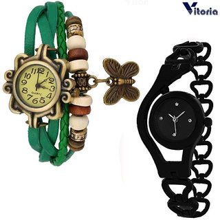 Vitoria Womens Fashionable  Watch Combo(Pack Of 2)