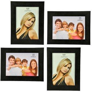 Crete Glass Photo Frame (Brown, 4 Frames)