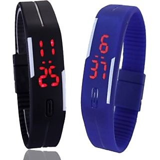 NEW Combo Led watch for kid ( MANGNETIC BLUE BLACK ) 6 month warranty