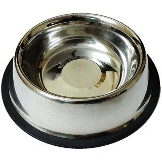 Dog Feeding Bowl, Cat Feeding Bowl, Pet Bowl, Stainless Steel, Anti-Skid, Round, 600 ML