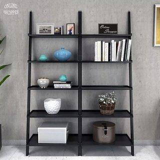 Onlineshoppee Leaning Bookcase Ladder and Room Organizer Engineered Wood Wall Shelf -Set of 2 & Buy Onlineshoppee Leaning Bookcase Ladder and Room Organizer ...