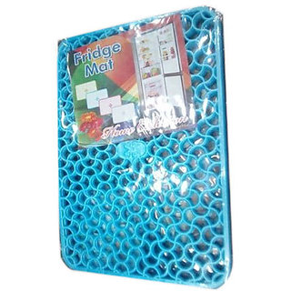 Khushi Creation Set of 6 PVC Fridge Mats 12X17 Inches. (Blue)