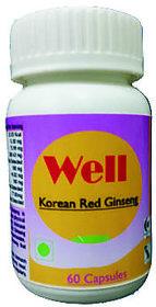 Hawaiian Herbal Well Korean Red Ginseng Capsule60 Capsule(Buy 1 Well Korean Red Ginseng Capsule  Get 1 Same Drops Free)