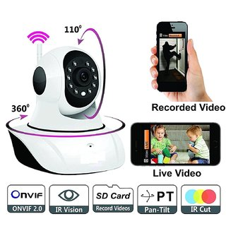 Wireless HD IP Wifi Camera CCTV Indoor Security CCTV Camera Video Monitor (Inbuilt Mic) - Uttoo