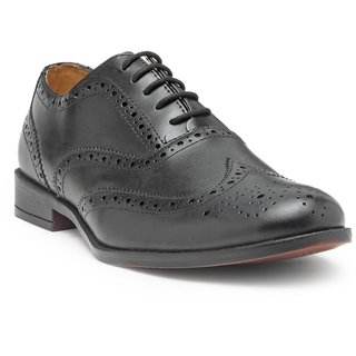 HATS OFF ACCESSORIES Genuine Leather Black Premium Brogues Shoes For Mens (HOA-AW1711)