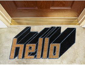 3D Hello coir doormat