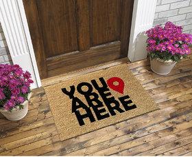 You are Here coir doormat