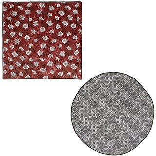 Glassiano Waterproof and oilproof bed server food mats Combo Pack of 2