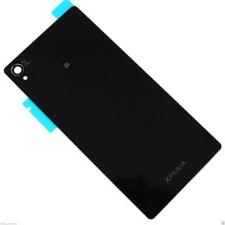 Battery Door Back Glass Back Panel Back Glass For Sony Xperia Z3 D6633  Xperia Z3 Dual Sim Black Color