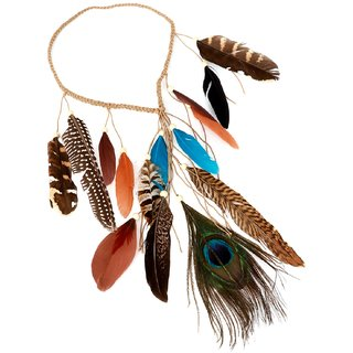 Bijou Vertex Multi-Colour Boho Feather Hair Band