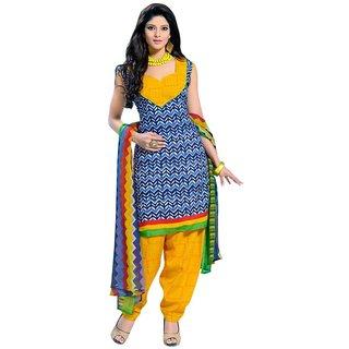 Triveni Classic Printed Blended Cotton Salwar Kameez 1008 (Unstitched)