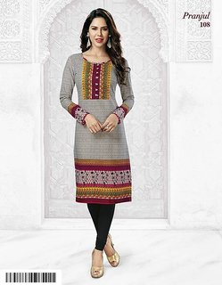 Hayaafashion Pranjul Pankhuri Stitched Cotton Printed Kurti (PRNJ108)