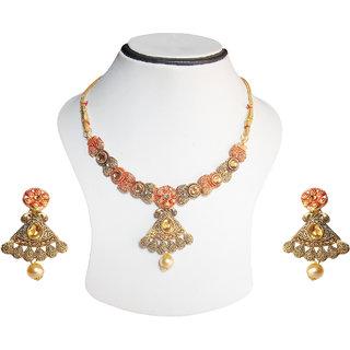 simbright antique gold necklace set