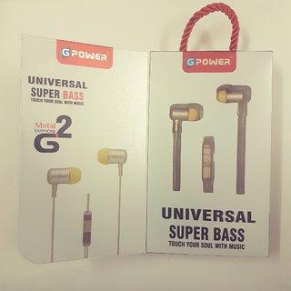 UNIVERSAL SUPER BASS METAL EARPHONE G2