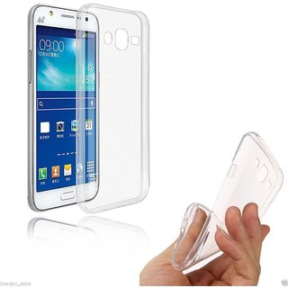 Back Cover for Samsung Galaxy J2 2015 (J200) (Transparent Rubber)