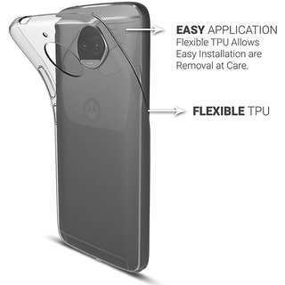 Back Cover for MOTO G5S PLUS (High Quality Waterproof Silicon Transparent)
