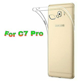 Back Cover for Samsung Galaxy C7 Pro (Transparent Rubber)