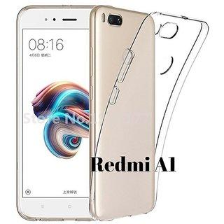 Back Cover for Redmi A1  (Transparent Rubber  Silicon)