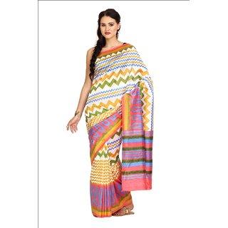Sofi Women's Multicolor Silk Sari