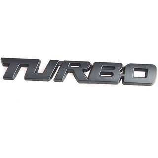 DY 3D Metal Turbo Emblem Badge Universal Car Styling Motorcycle Sticker Decal Logo (Large)