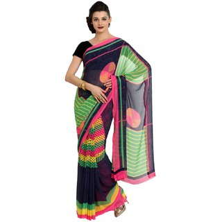 Sofi Women's Printed Multicolor Georgette Sari