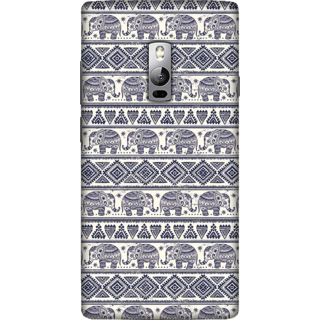 One Plus 2 Case, Elephant Aztec Pattern Slim Fit Hard Case Cover / Back Cover For One Plus 2
