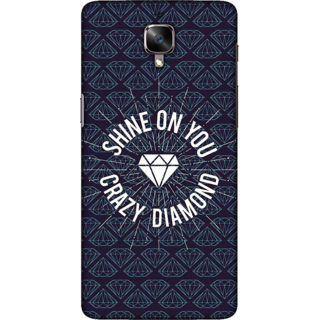 One Plus 3T Case, Shine On Crazy Diamond Slim Fit Hard Case Cover / Back Cover For One Plus 3T