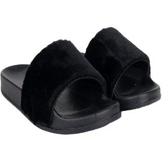 Do Bhai Women's Black Flats