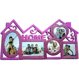 HOME PHOTO FRAME SET OF 5 PHOTO IN PINK GLOSSY COLOR