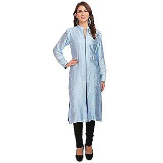 Jenee Ventures Womens Printed Dupoion Silk Kurti (D.No.73401)