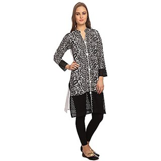 Jenee Ventures Womens Self Design Cotton Kurti (D.No.21)