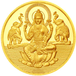Sri Jagdamba Pearls  24Kt 0.500 Gram Laxmi Gold Coin